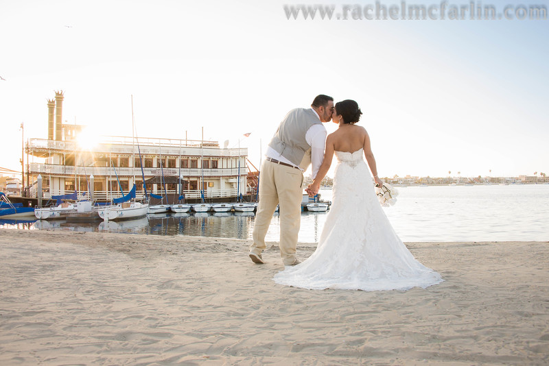 Bahia Resort San Diego Destination Beach Weddinghttp://bahiahotel.com/weddings/San Diego Wedding Photographer - www.rachelmcfarlinphotography.comWillam D Evans Sternwheeler Boat - www.sternwheelers.com