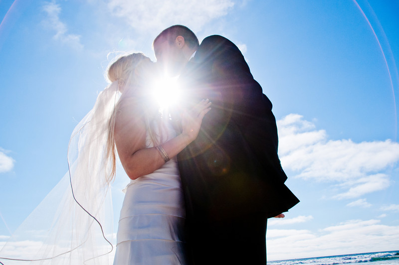 Pacific Beach Wedding ~ Bride and Groom Sun-kissed