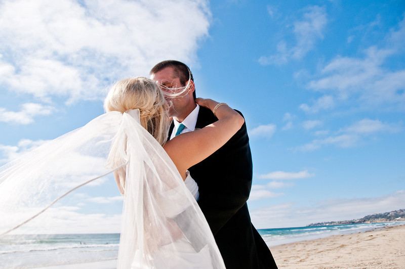 Pacific Beach Wedding ~ Bride and Groom